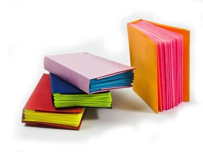 How to make a mini modular origami book -|- DIY Paper Book