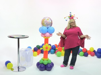 How To Make a Welcome Baby Balloon Pedestal