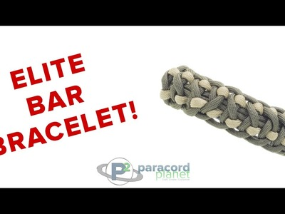 How To Make An Elite Bar Paracord Bracelet - Paracord Planet Tutorial