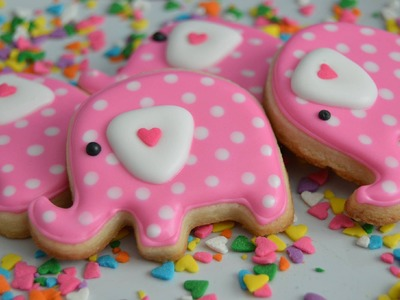 How to make Elephant Cookies for a Birthday or Baby shower!