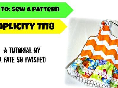 How To: Sew Simplicity 1118