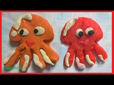 PLAY DOH Octopus. How To Make Playdough Octopus | Play Doh Animal