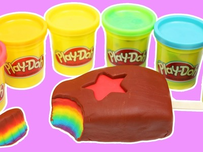Play Doh RAINBOW Popsicle DIY Fun & Easy How to Make Beautiful Rainbow Play-Doh Art!