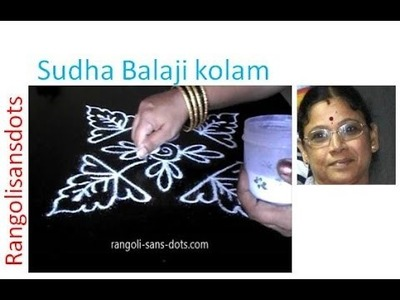Rangoli making ideas - How to create a kolam design | Sudha Balaji
