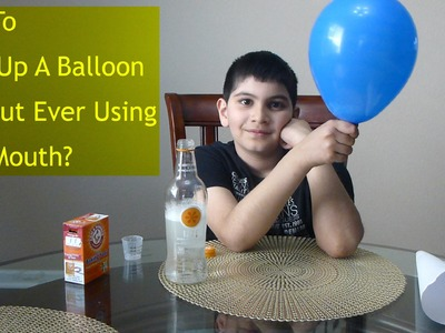 Really Cool Science Trick - How to Inflate. Blow a Balloon Using Baking Soda and Vinegar