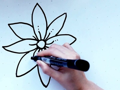 18: Kids' Tutorial -  How to Draw a Flower (B) | Simple, Easy & Fun | Vivi Santoso