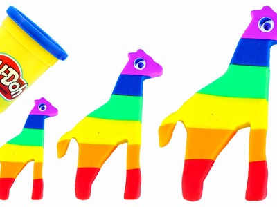 DIY Modelling Clay How To Make Rainbow Giraffe Play Doh Super Fun and Creative For Kids Play