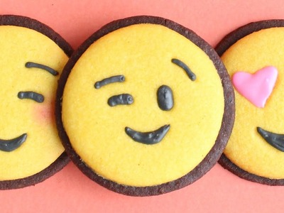 Emoji Cookies - how to make easy emoji decorated cookies