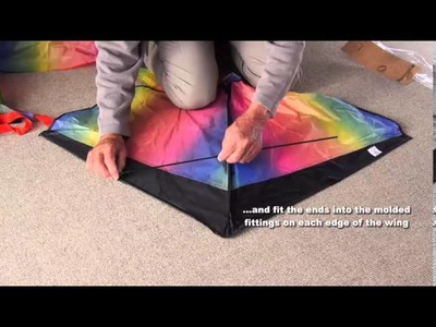 How to assemble aGreatLife Rainbow Kite for kids (old version)