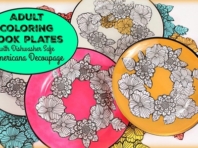 HOW TO: Coloring Book Plates