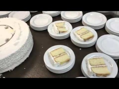 How to cut a wedding cake at McHale's