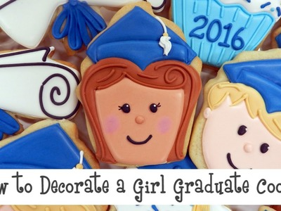 How to Decorate a Girl Graduate Cookie