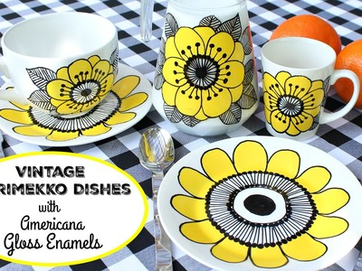 HOW TO: DIY Vintage Marimekko Dishes