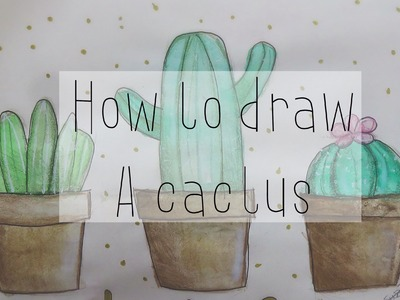 How to draw a cactus tumblr |Drawicorn