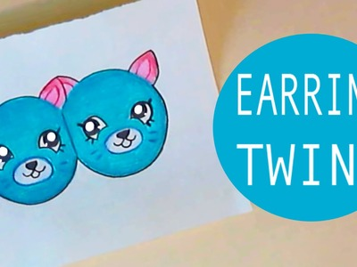 how to draw earrings step by step