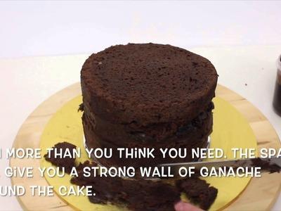 How to ganache a round cake