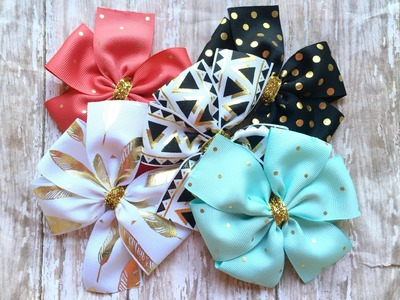 How to make a pinwheel bow