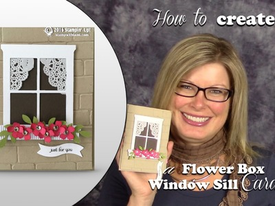How to make a Window Sill Flower Box Card featuring Stampin Up