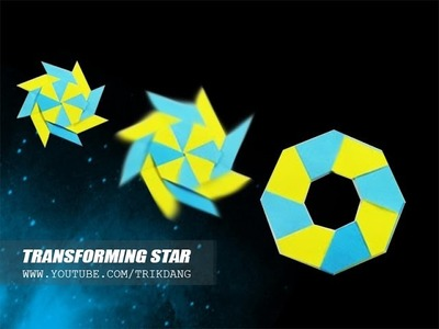 How to make an Origami for Kids -  COOLEST paper Shuriken | Transforming Star