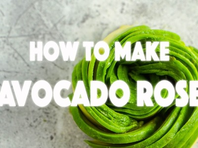 How to Make Avocado Flower - Stop Motion