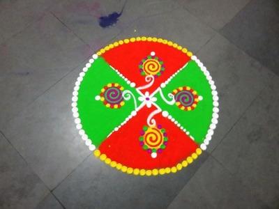 How to make circule beautiful rangoli design
