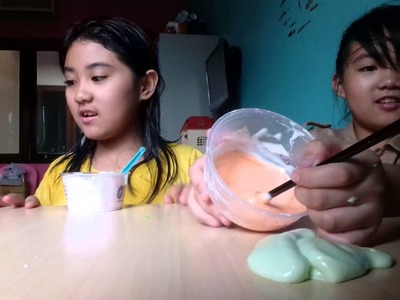 How to make Cotton candy slime. .