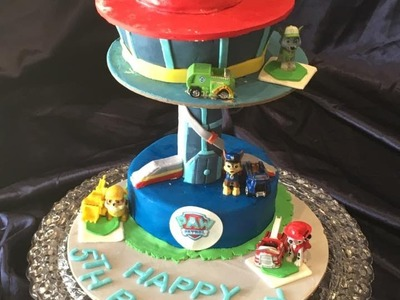 How to make Paw Patrol Lookout Cake.Decorations.Tutorial