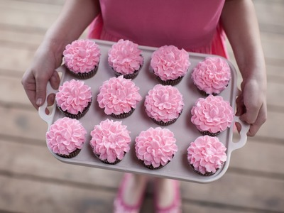 How to Make Ruffle Flower Cupcakes