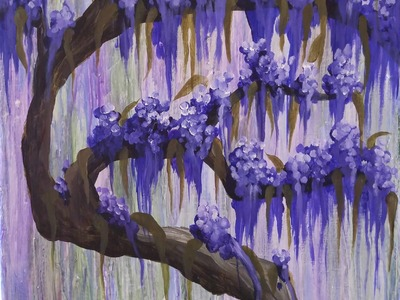 How to Paint a Wisteria an Angelooney Collaboration for Beginners