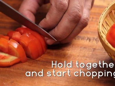 How To Roughly Chop A Tomato | Sanjeev Kapoor Khazana