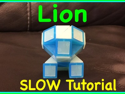 Smiggle Snake Puzzle or Rubik's Twist Tutorial: How to Make a Lion Shape SLOW Step by Step