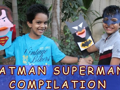 Batman And Superman Paper Craft Compilation | Summer Special Activities For Kids
