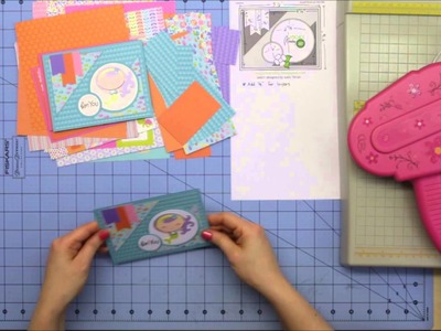 Cardmaking with Doodlebug's Under the Sea paper using 6x6 tutorial