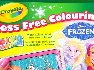CRAYOLA Color Wonder Glitter Paper Kit Markers Coloring Disney Frozen Elsa and Princess Anna