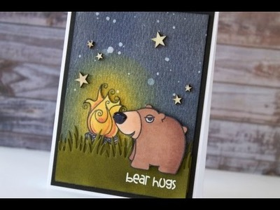 Distress Ink Background  - Paper Smooches Card