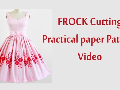 Frock cutting and stitching in tamil with paper Pattern