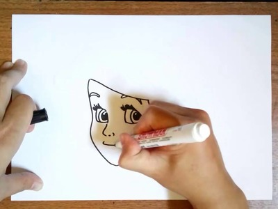 How to Draw Ariel Little Mermaid Face step by Step