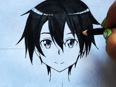 How to draw Kirito (sword art online) step by step tutorial