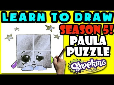 How To Draw Shopkins SEASON 5: LIMITED EDITION Paula Puzzle, Step By Step Season 5 Shopkins Drawing
