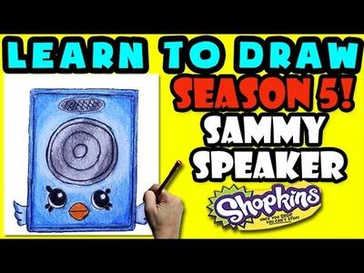 How To Draw Shopkins SEASON 5: ELECTRO GLOW Sammy Speaker, Step By Step Season 5 Shopkins Drawing