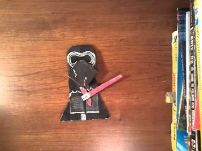 How to fold origami Kylo Ren!