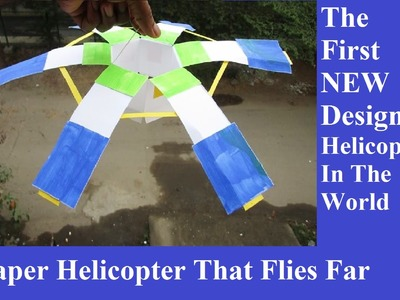 How to make a paper helicopter that flies - Easy Way - how to make a helicopter that fly far