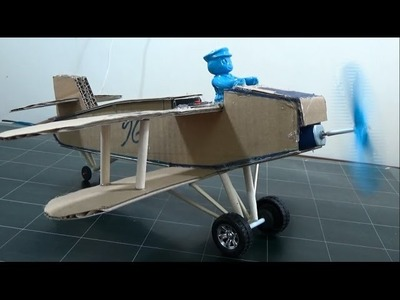How to Make an Airplane That Flies Far With Motor | Cardboard Plane