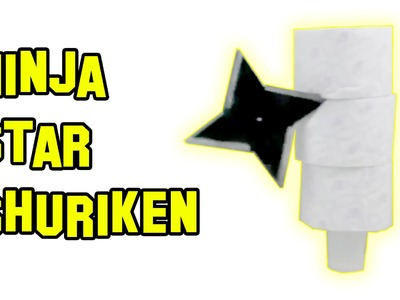 ✔ How to Make Paper Tube Ninja Star Shuriken