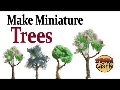 Make Miniature Trees free with paper and sponge