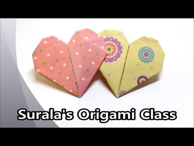 Origami - Double Heart (with One Sheet of Paper)