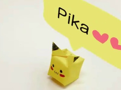 Origami Pikachu Pokemon Tutorial Easy Paper Origami Instructions Pokemons