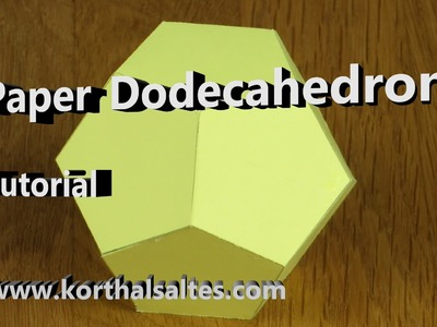 Paper Dodecahedron Tutorial