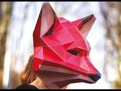 Paper Fox Mask from Epistory - Build up