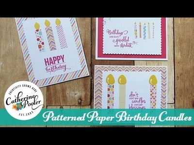 Patterned Paper: Birthday Candles